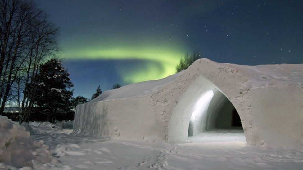Northern Lights are one draw to Lapland, Finland. (Arctic SnowHotel & Glass Igloos)