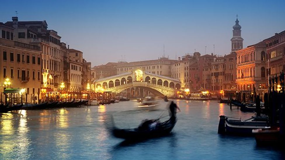 A gondola glides on one of Venice's famed canals. (Thinkstock)