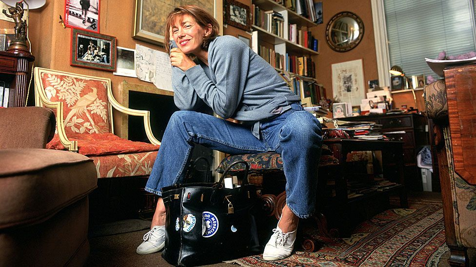 Created in 1984, the bag bears the name of French-based British actress, Jane Birkin - shown here with a bag in 1996 (Rex/Mike Daines)