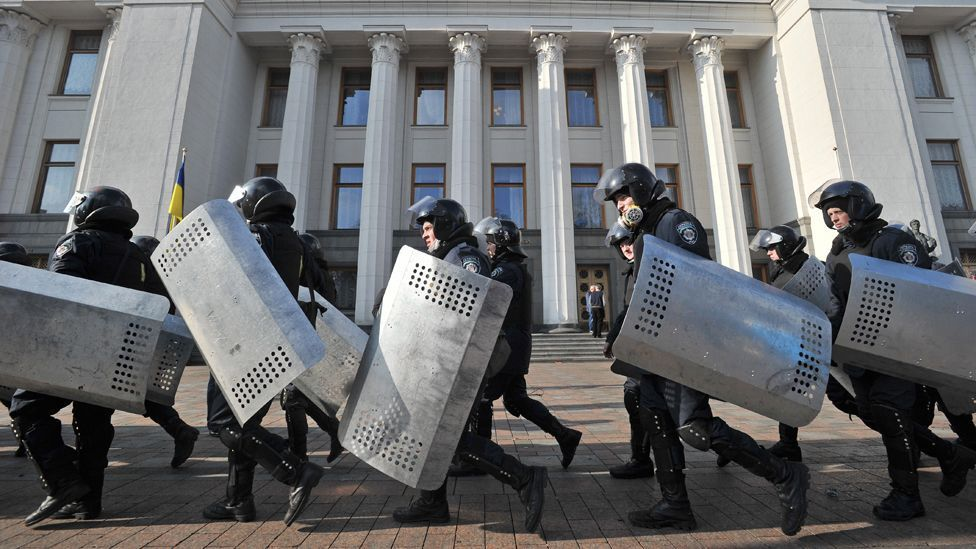 Predicting whether a regime, like the one in Ukraine, might fall often relies on historical clues (AFP/Getty Images)
