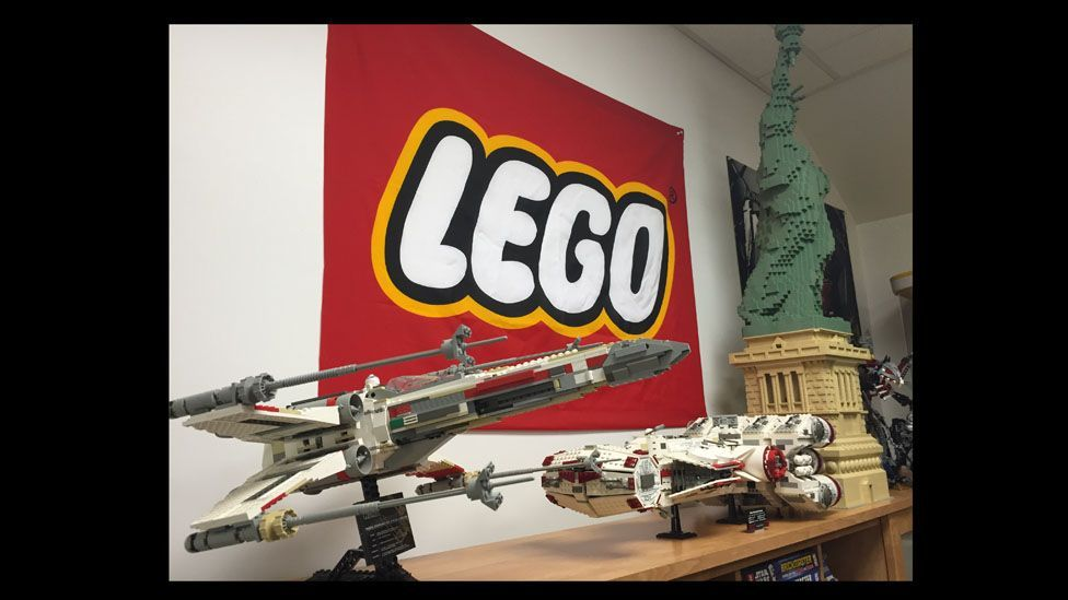 The Maciorowski brothers of BrickPicker.com own thousands of Lego sets, including this X-wing Fighter, Rebel Blockade Runner and the Statue of Liberty.(BrickPicker.com)