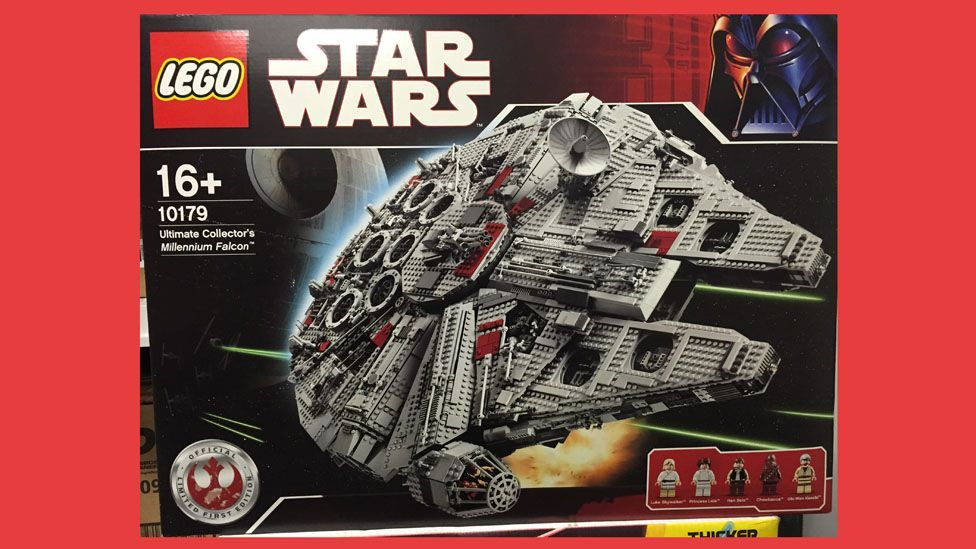 An iconic Lego set: 10179 Ultimate Collector's Millennium Falcon, released in 2007 for $499.99, is now changing hands at around $3,569.(BrickPicker.com)