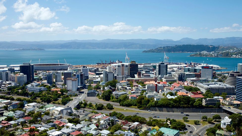 Blue skies over Wellington, New Zealand. (Oliver Strewe/Getty)