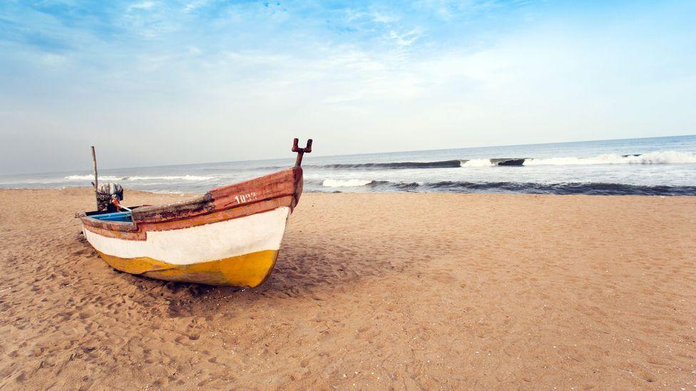 On the beach in Chennai, India. (Exotica.im/Getty)