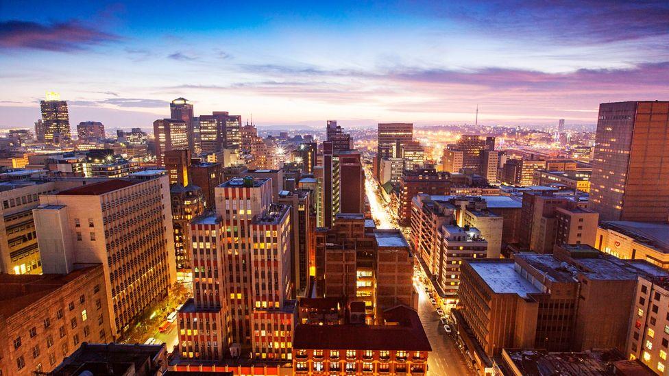 The Johannesburg city centre skyline. (BFG Images/Getty)