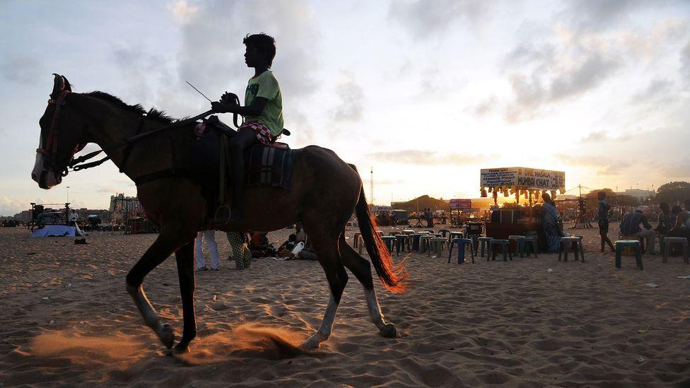 Marina Beach in Chennai. (AFP/Getty)
