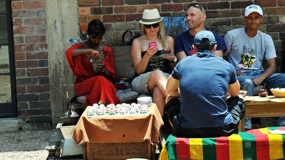 Street cafe in Johannesburg's hip Maboneng neighbourhood. (Alexander Joe/Getty)