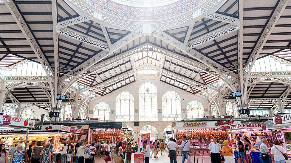 Valencia's Mercado Central - where the food on sale in this exquisite Spanish Art Nouveau building is as every bit delicious as the enveloping architecture (Getty)