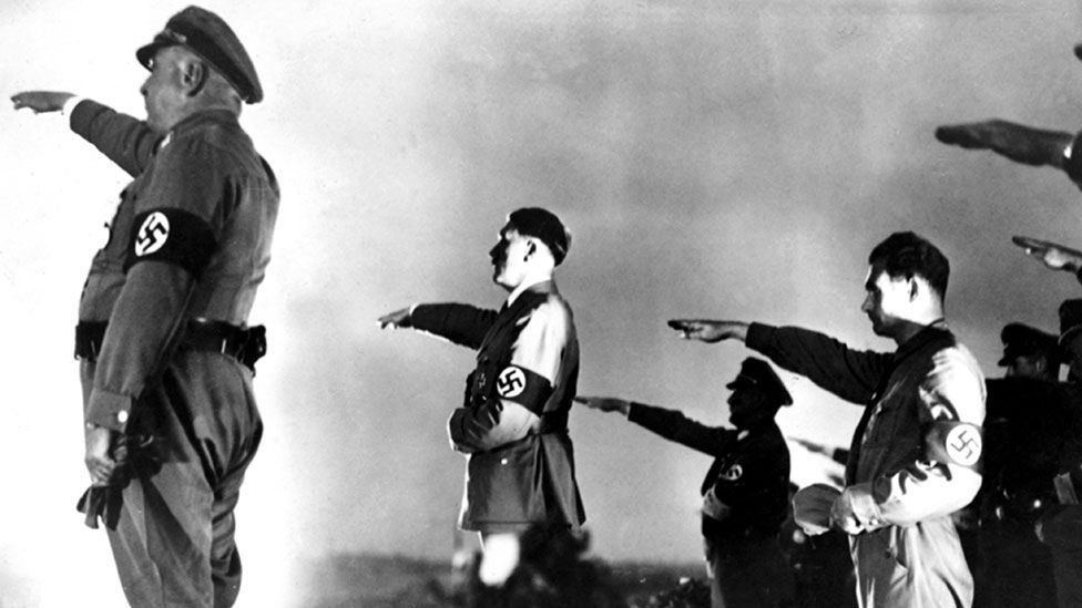 Perhaps the only other film to match The Birth of a Nation's technical brilliance and ideological horror is the Nazi propaganda film Triumph of the Will (Rex Features)
