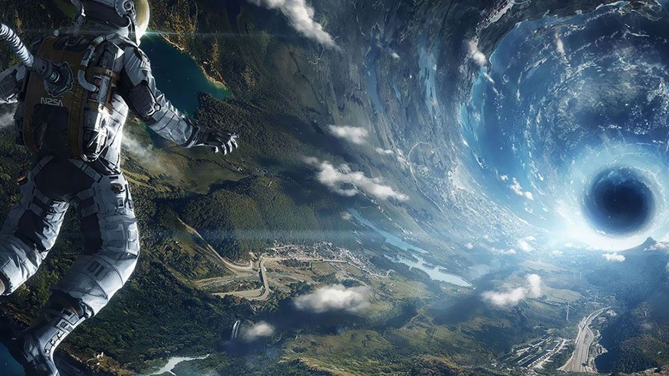 Interstellar's astronauts effectively travel through time by using wormholes (Paramount Pictures)