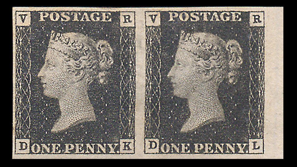 Billions of stamps have been issued since the British penny black, the world's first adhesive stamp, debuted in 1840. (Credit: Warwick & Warwick)