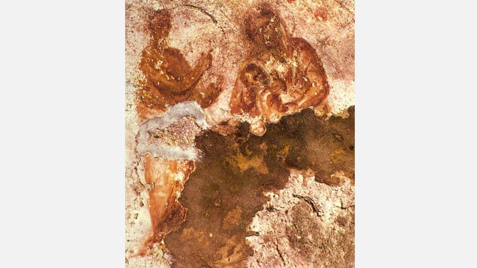 One of the images in the catacombs could be the first ever depiction of the Virgin Mary – or it could just show a woman holding a baby (Wikipedia)