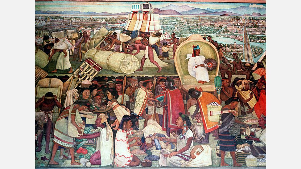 In 1945 Diego Rivera painted this mural of Tenochtitlan, the Aztec city that in the early 16th Century was bigger than any in Europe (Danita Delimont/Alamy)