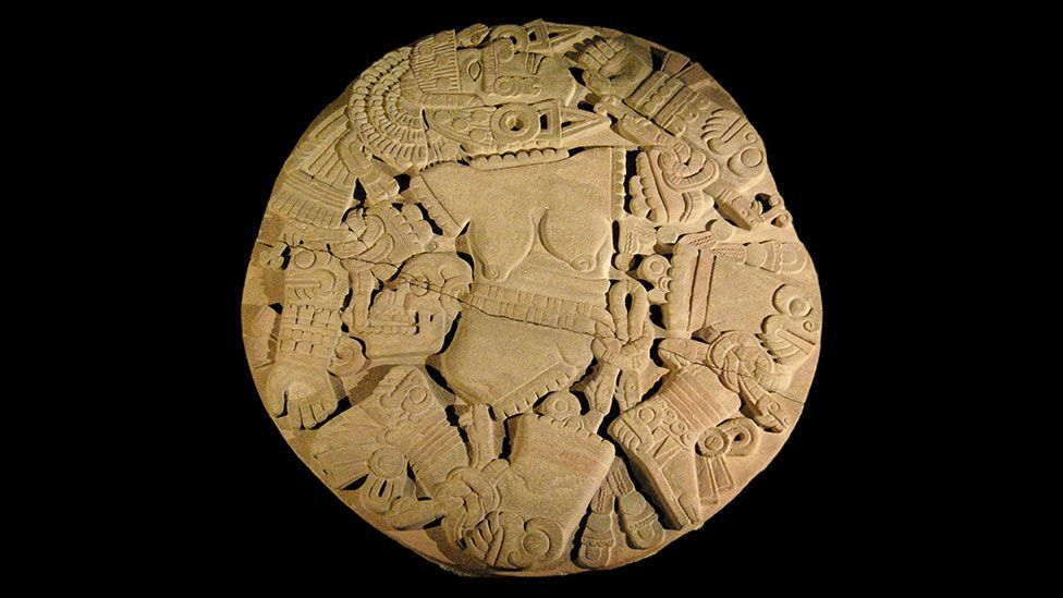 The discovery of this stone disk depicting the Aztec moon goddess Coyolxauhqui in 1978 prompted the excavation of the rest of the Templo Mayor (Miguelao/Wikipedia/CC BY-SA 2.0)
