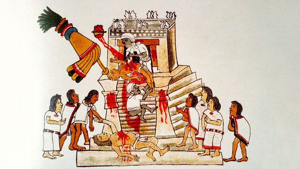 At the dedication of the sixth Templo Mayor Aztec priests sacrificed 4,000 prisoners of war (Niday Picture Library/Alamy)