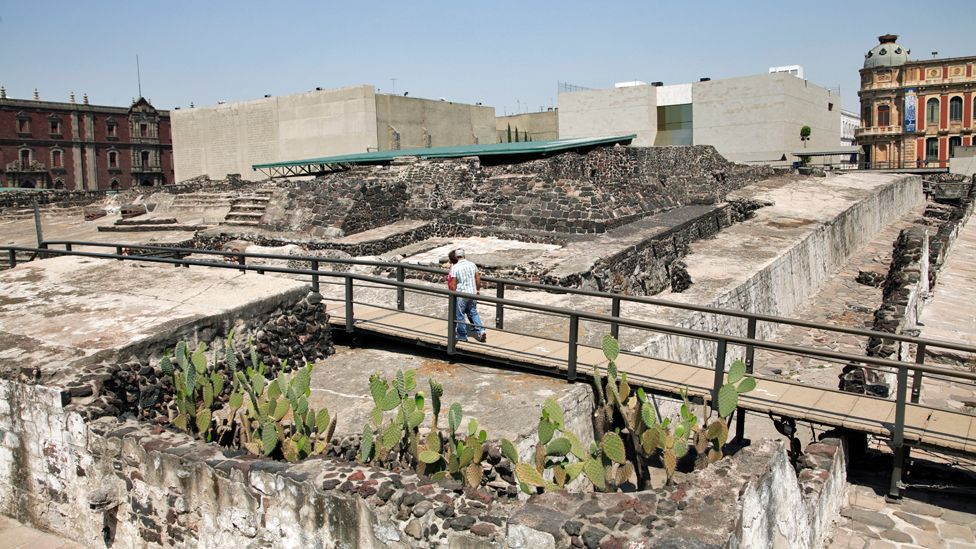 The exterior of the unearthed Templo Mayor in Mexico City (David R Frazier Photolibrary Inc/Alamy)