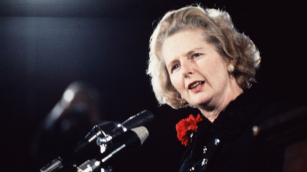 British prime minister Margaret Thatcher had elocution lessons to make her voice sounds lower. (Hulton Archive/Getty Images)