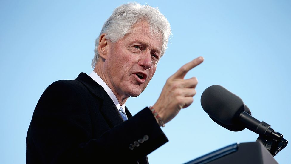 Former US president Bill Clinton has vocal fry issues — something barely, if ever mentioned as a problem for his professional presence. (Chip Somodevilla/Getty Images)