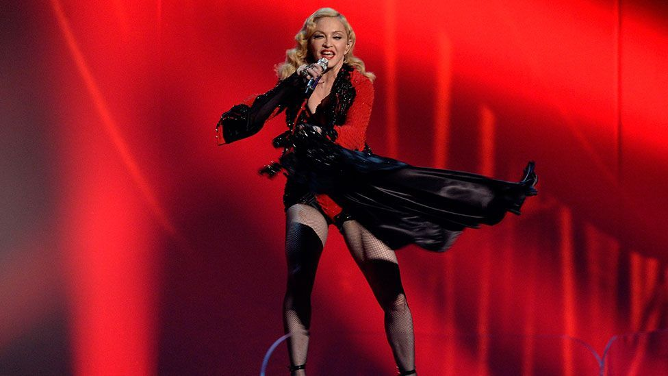 The most recent Grammy Awards saw her sporting thigh boots and a matador-inspired Givenchy Couture bodysuit (Getty)