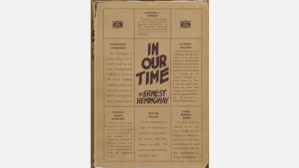 Ernest Hemingway published his first book, In Our Time, in 1925 (Credit: Boni & Liveright)