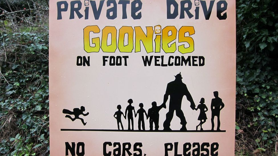 Sign near the Goondocks house. (Credit: David G Allan)