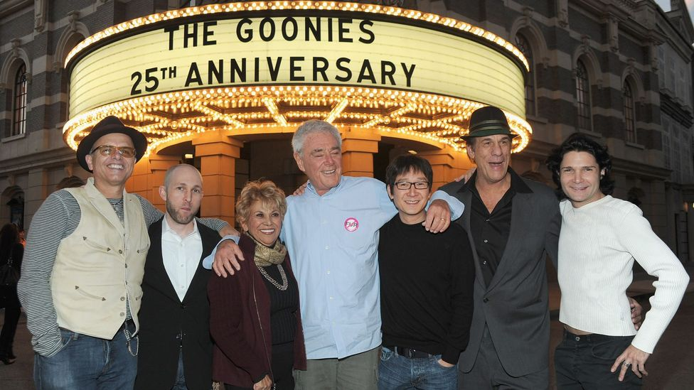 Actors and director at The Goonies 25th anniversary celebration in 2010. (Credit: Alberto E Rodriguez/Getty)