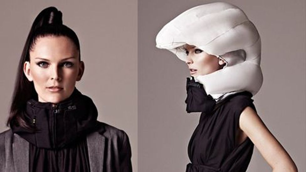This Swedish-made helmet inflates to protect the user from impact (Credit: Hovding)