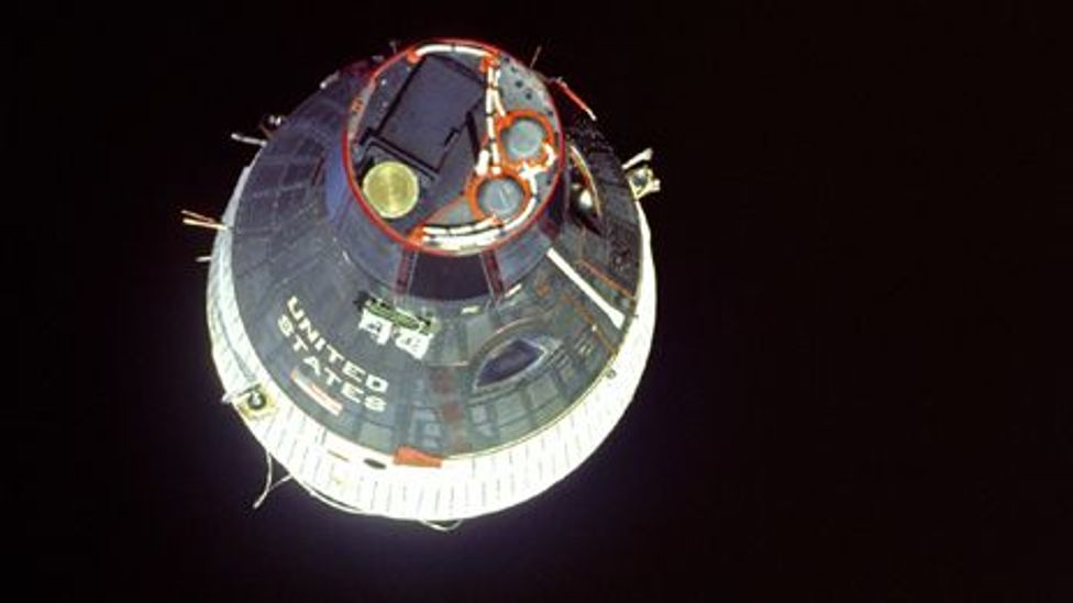 """The Gemini capsule was dubbed the """"fighter pilot's spacecraft"""" (Credit: Nasa)"""