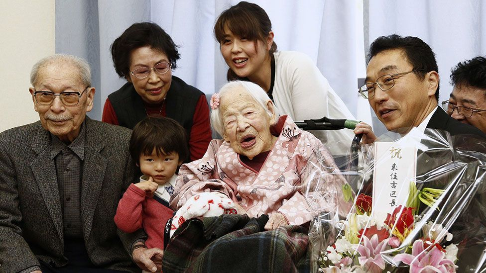 Misao Okawa, born in 1898, was one of the few people to have lived in three centuries (Credit: Getty Images)