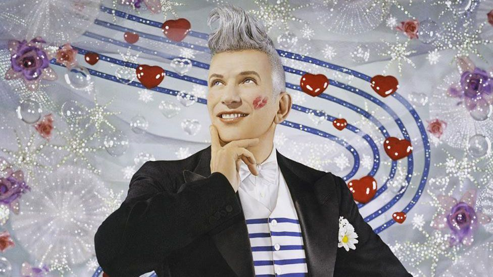 Jean Paul Gaultier – photographed here by French duo Pierre et Gilles – is honoured at a new exhibition at Paris' Grand Palais (Credit: Pierre et Gilles)
