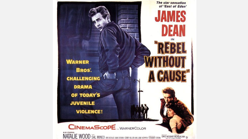 James Dean influenced the teens on the scene in the 1950s by looking mean in jeans (Credit: Rex)