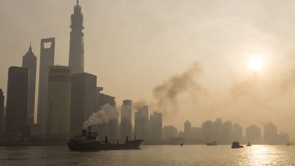 China's breakneck economic growth has led to serious air pollution in Shanghai (Credit: Getty Images)