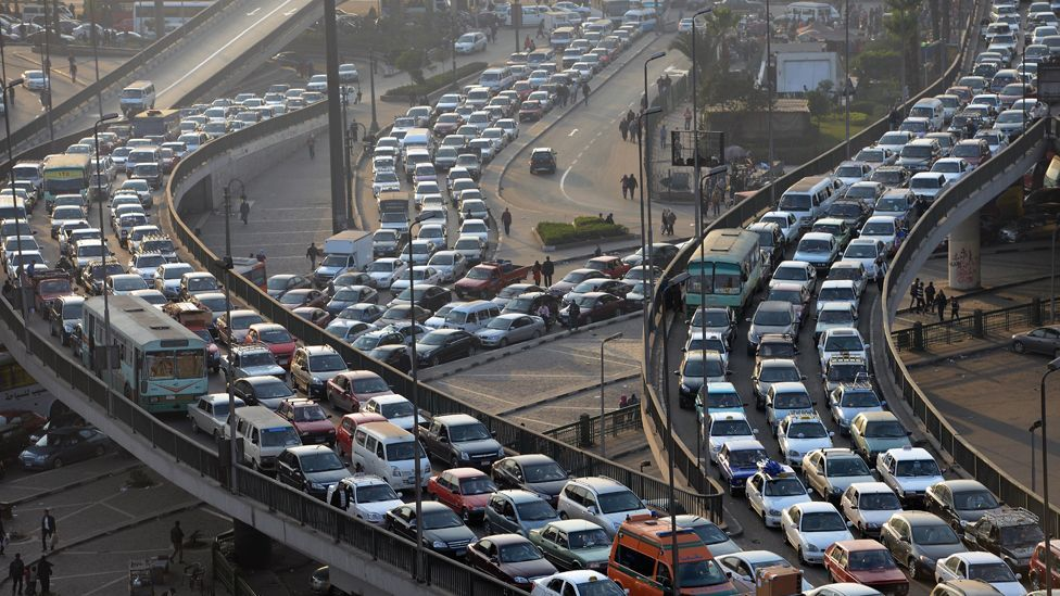 Cairo's commuters must deal with traffic-clogged roads (Credit: AFP/Getty Images)
