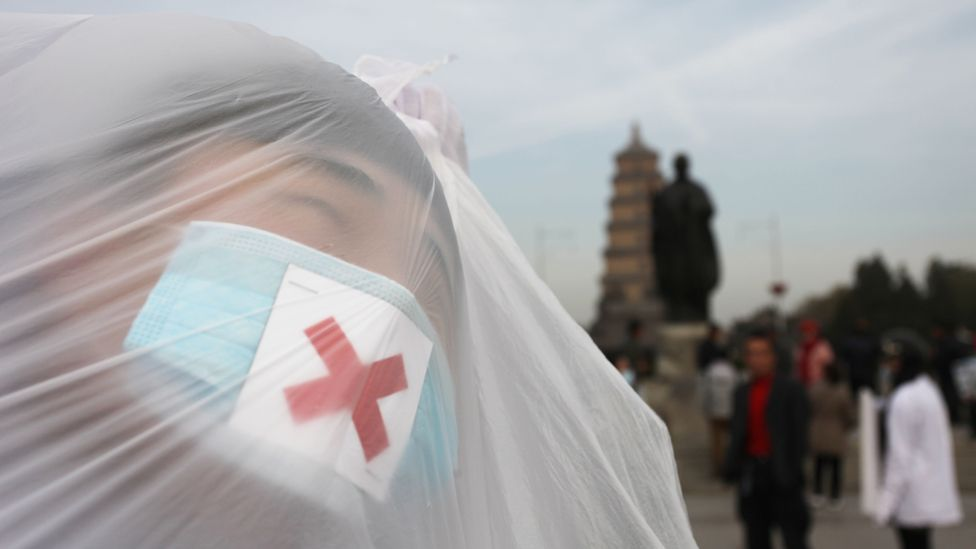 The air quality is so poor in Shnaghai that residents have held protests (Credit: Getty Images)