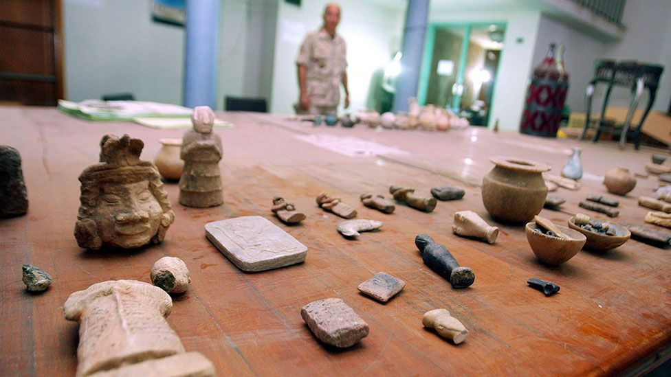 Smaller, more easily transported pieces can fetch much more on the black market than large artefacts (Credit: Getty)
