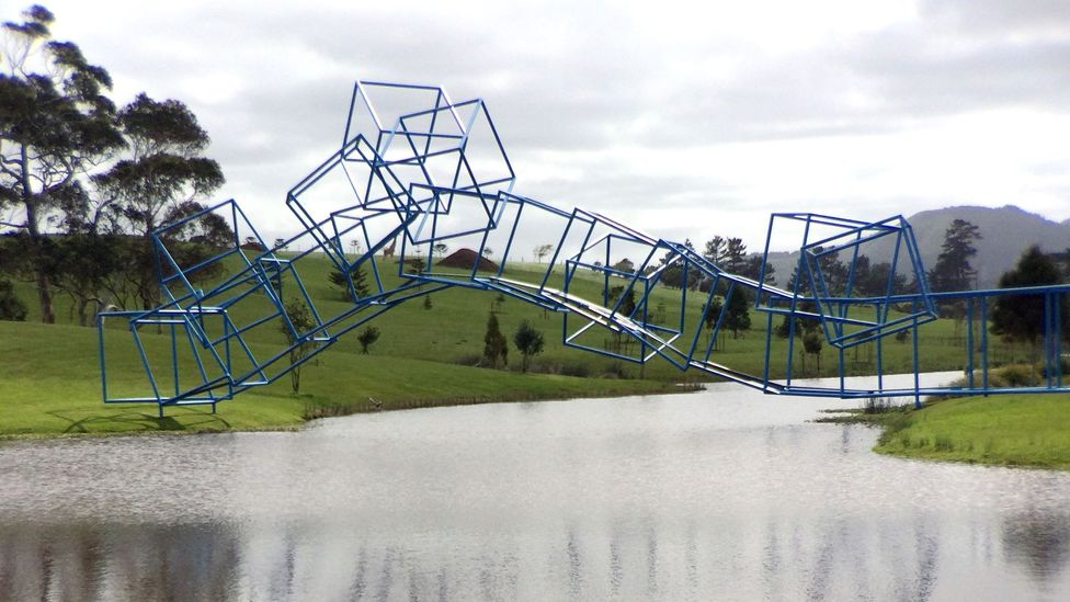 Gibbs Farm on Kaipara Harbour houses an eclectic sculpture collection. (Credit: Getty Images)