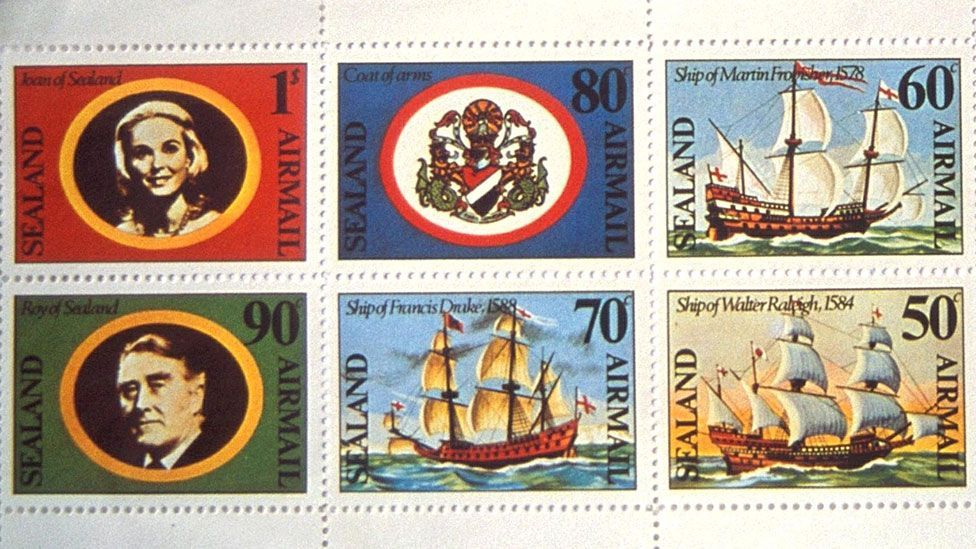 Sealand stamps - collectors' items? (Credit: Rex)