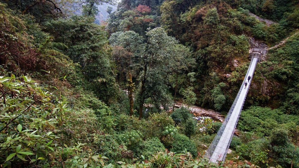 Nepal, hiking trails, trekking, mountains, teahouses, villages, bridges