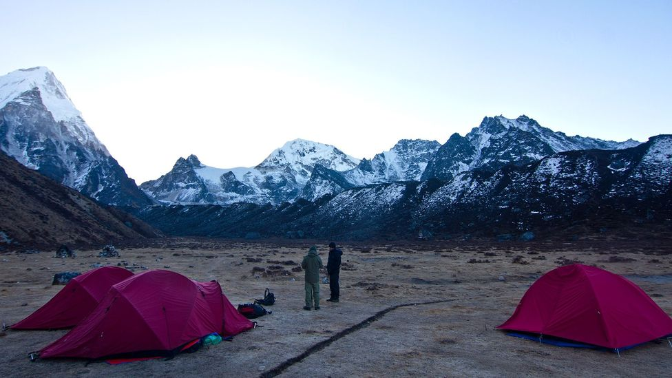 Nepal, hiking trails, trekking, mountains, Himalayas, mountains, tents