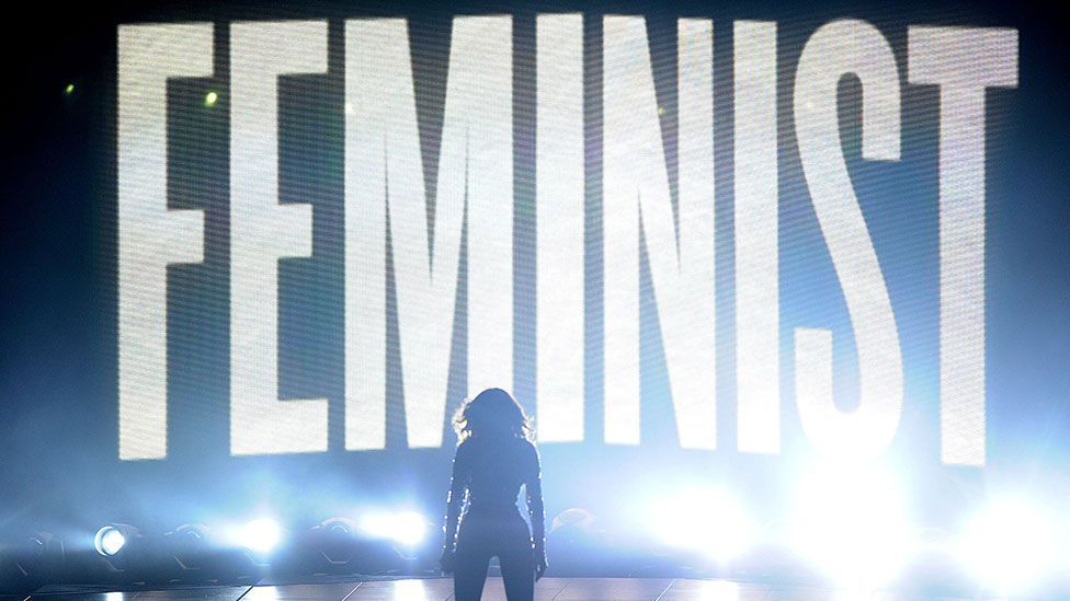 Though she is comfortable embracing traditional domestic roles, Beyoncé also imbues her songs and performances with powerful feminist themes (Credit: Jason LaVeris/FilmMagic)