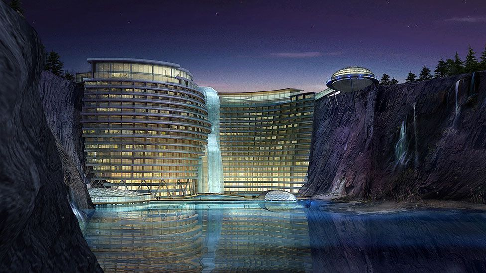 The Shimao Wonderland Intercontinental hotel, in Songjiang, Shanghai (Credit: Atkins)