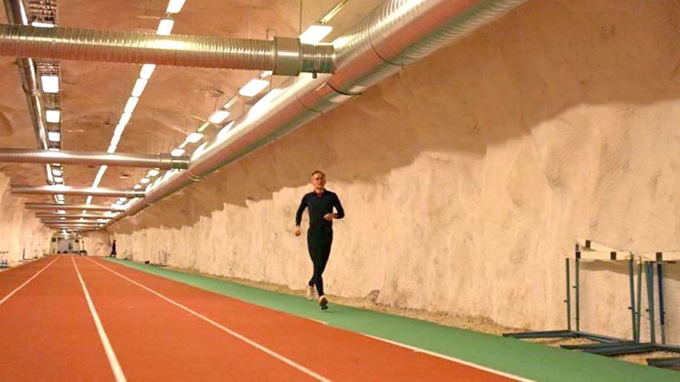A running track underneath Helsinki in Finland (Credit: City of Helsinki)