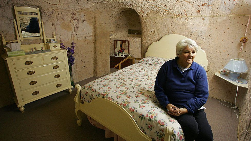 A subterranean bedroom in Coober Pedy (Credit: Torsten Blackwood/AFP/Getty)