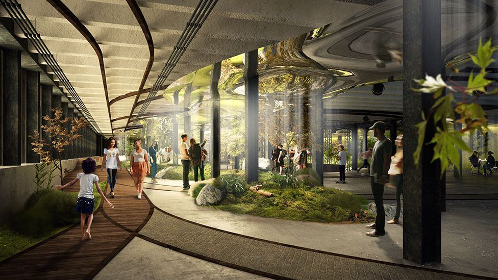 A design for New York City's Lowline, an underground park (Credit: Raad studio)