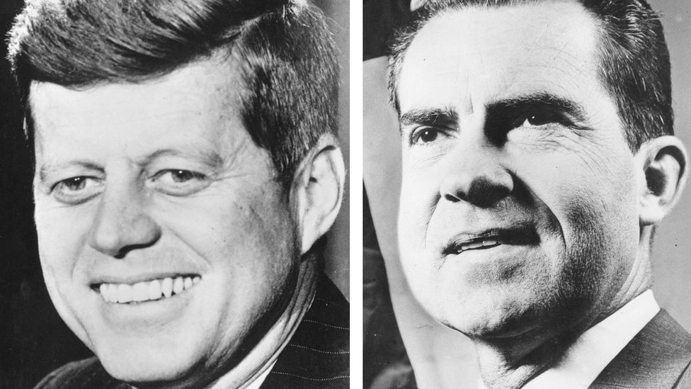 Physical appearance became a factor in the 1960 Nixon-Kennedy debates. Studies have shown voters have a bias toward more physically attractive candidates (Credit: Getty Images)
