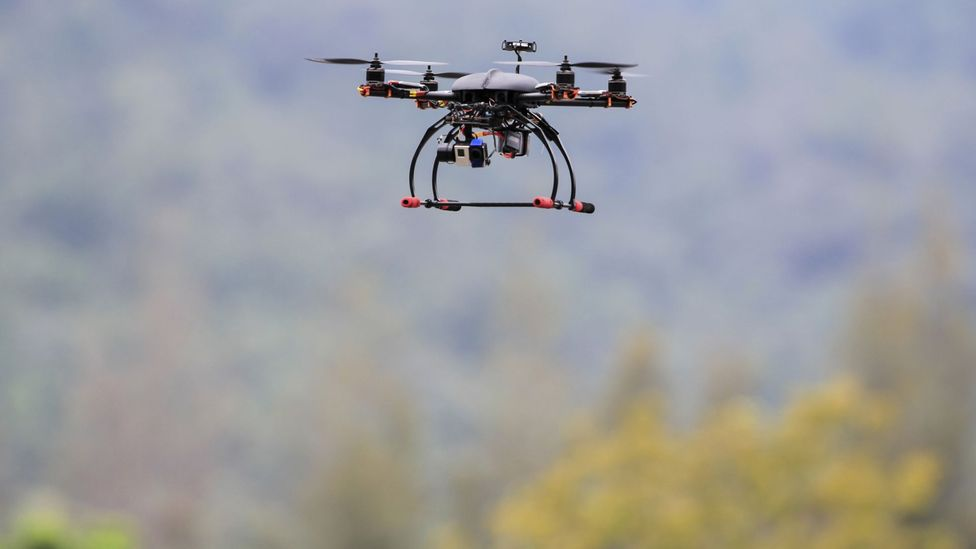 Drones could be used to find buried bodies by analysing soil (Credit: Getty Images)