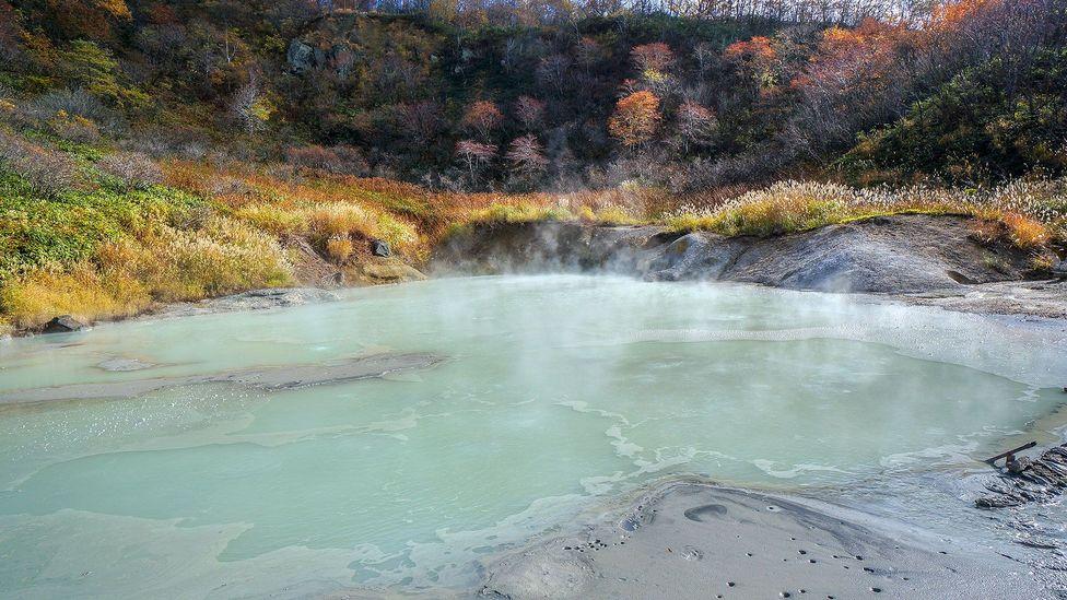 Hot baths in Japan's Hell Valley (Credit: Liwei Hong/Getty)
