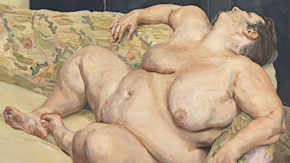 Freud's Benefits Supervisor Resting, part of his Big Sue series, appears to challenge conventional notions of beauty (Credit: Benefits Supervisor Resting/Lucian Freud)
