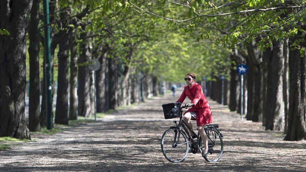 Riding through Prater Park (Credit: Joe Klamar/AFP/Getty Images)