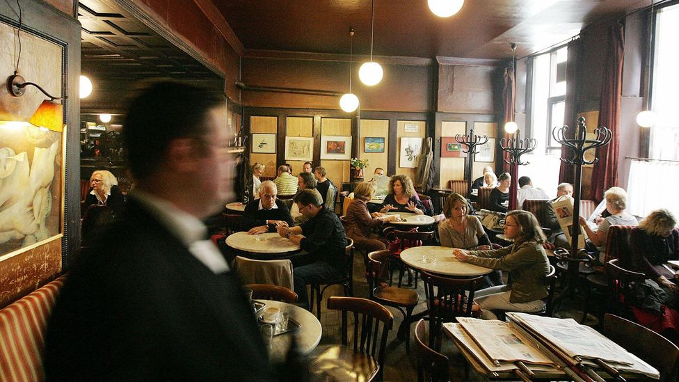 Finding idle time in the legendary Cafe Hawelka (Credit: Dieter Nagl/AFP/Getty Images)